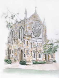 All Saints Chapel – Pen and Watercolor Painting