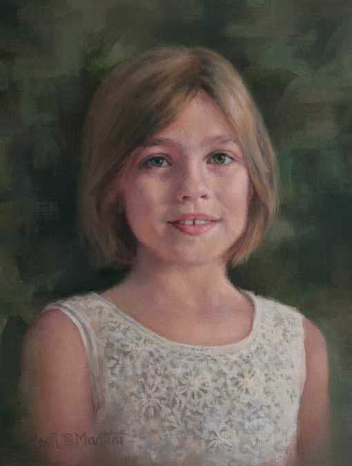 Beatrice – Child Portrait in Oil