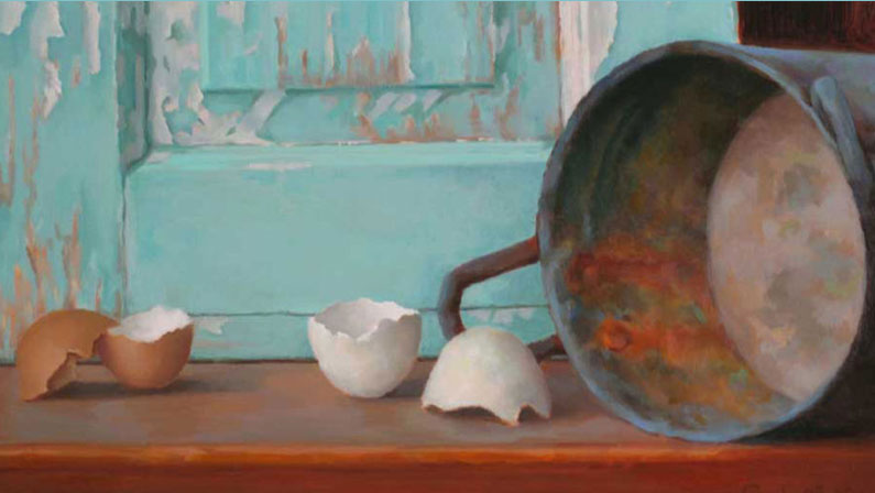 Broken Egg Shells – Custom Oil Painting