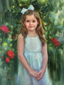 Caroline – Child Portrait in Oil
