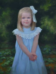 Caroline – Child Portrait Outside in Oil