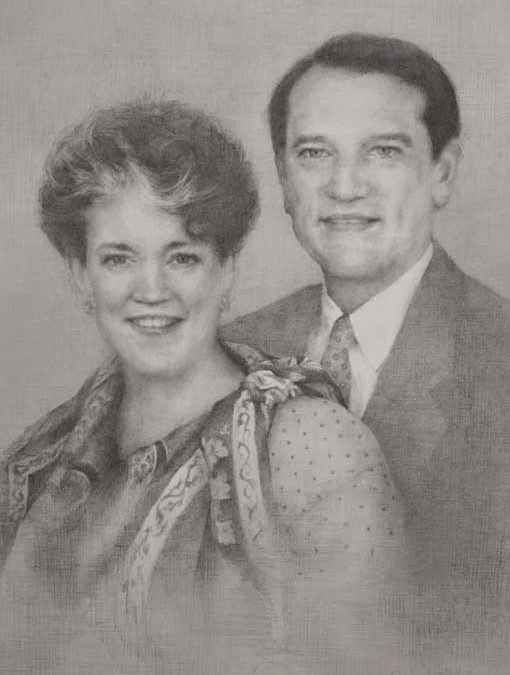 Cross Family Graphite Painting