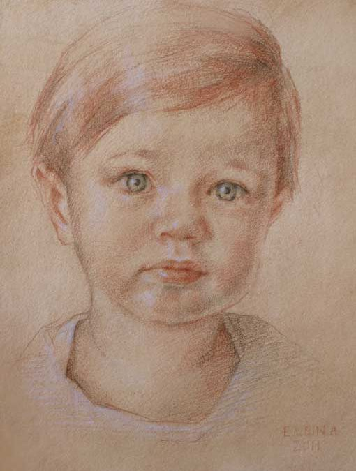 Elena – Child Portrait in Colored Chalk