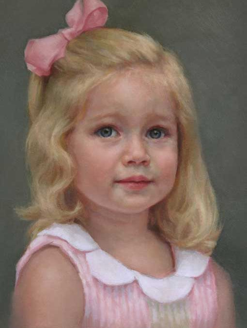 Elena – Child Portrait in Oil