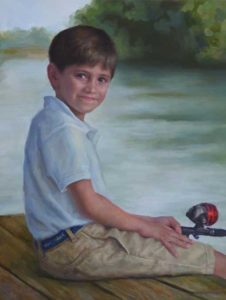 Eli – Child Portrait in Oil
