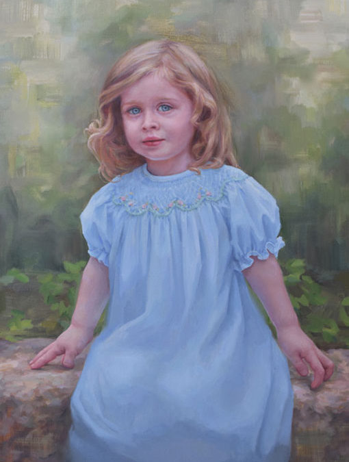 Felicity – Child Portrait in Oil