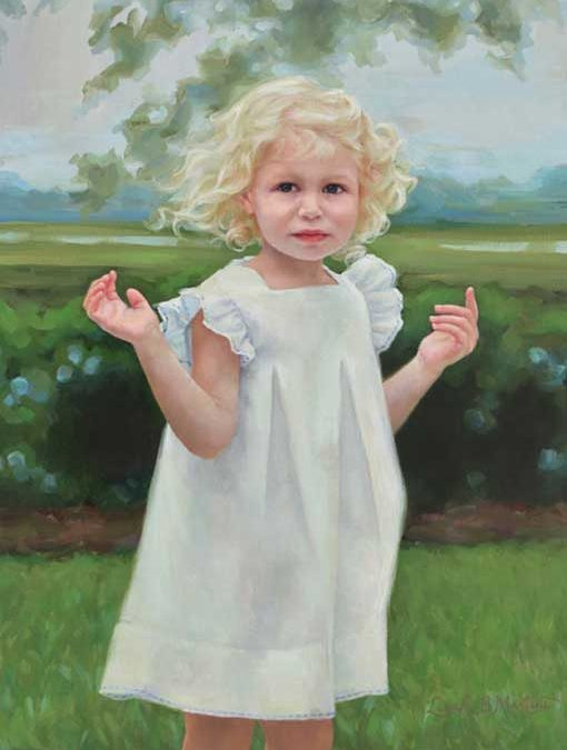Harper – Child Portrait in Oil