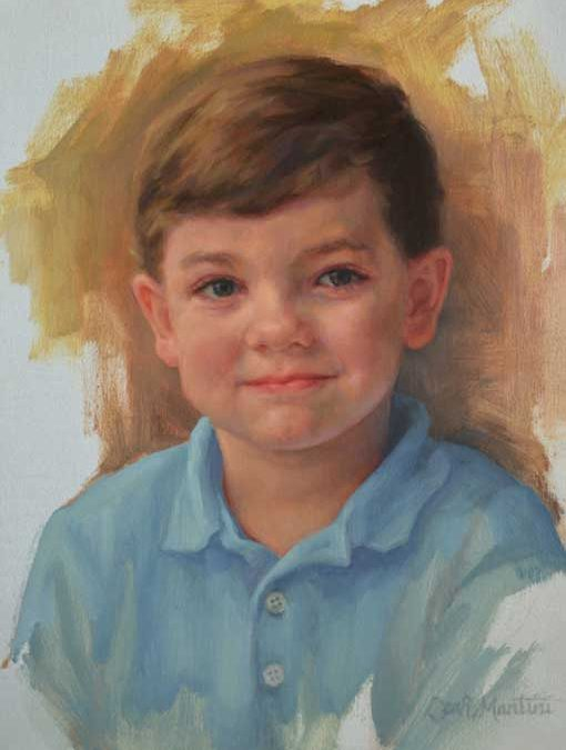 Henry – Child Portrait in Oil