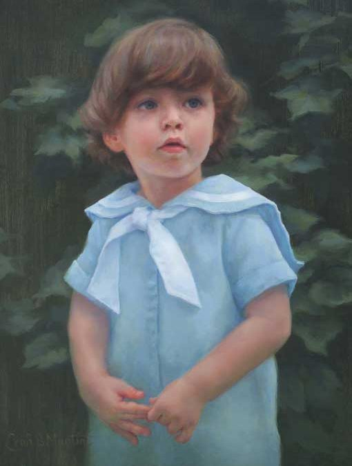 James David – Child Portrait in Oil