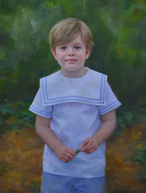 Mac – Child Portrait in Oil