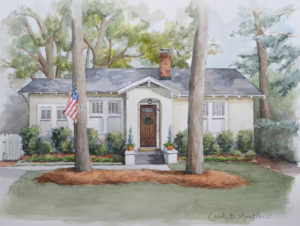 McKnight Home in Pen and Watercolor