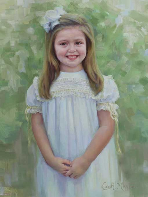 Reid – Child Portrait in Oil